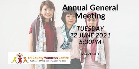 Tri County Women's Centre 2020-2021 AGM tickets