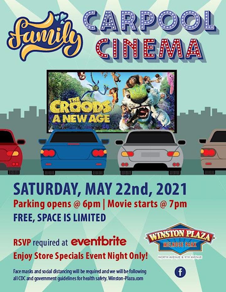 Carpool Cinema  at Winston Plaza - The Croods A New Age image