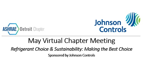 May 18th ASHRAE Virtual Event - Sponsored by Johnson Controls tickets