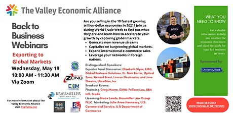 Back to Business Webinar - Exporting to Global Markets tickets