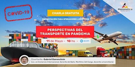 Charla gratuita: Perspectivas del transporte en pandemia entradas