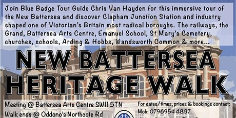 New Battersea Heritage Walk (Battersea Arts Centre to Northcote Road) tickets