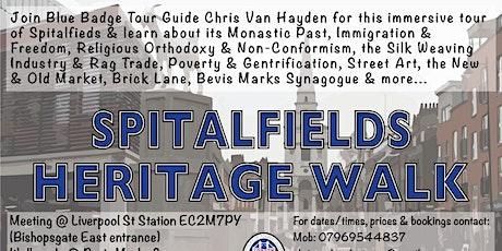 Spitalfields Heritage Walk tickets