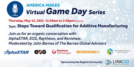 Virtual Game Day: Steps Toward Qualification for Additive Manufacturing tickets