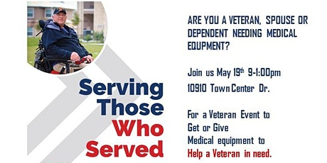 Veteran Event to Get or Give Medical Equipment to help a Veteran in Need tickets