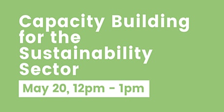 Capacity Building for the Sustainability Sector tickets