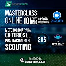 """Masterclass """"Metodología para Criterios de Evaluación en el Scouting"""" entradas"""