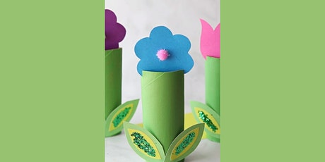 45min Springtime Tulip Flower Paper roll Craft @2PM  (Ages 5+) tickets