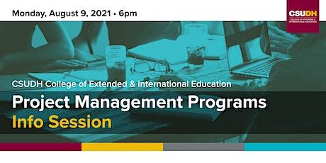 Info Session: CSUDH Project Management Programs | Online Webinar (8/9/21) tickets