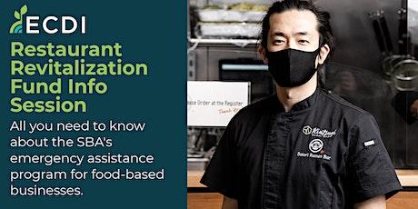 Restaurant Revitalization Fund Info Session tickets