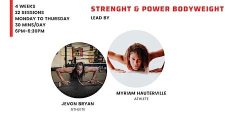 Strenght & Power bodyweight training tickets