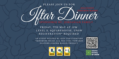 Iftar Dinner at ISOC by Jordanian Family- 7th May tickets