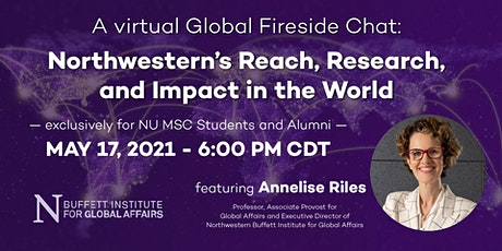 A Global Fireside Chat with  Northwestern Buffett Exec. Dir. Annelise Riles tickets