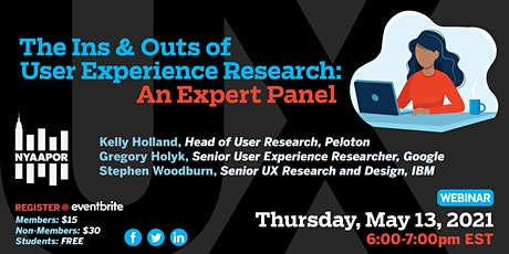 The Ins and Outs of User Experience Research: An Expert Panel tickets