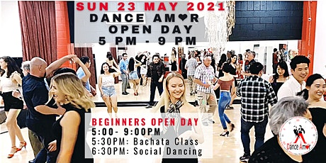 """Dance Bachata with Fun & Confidence!"" Dance Amor Open Day Sun 23 May 5 PM tickets"