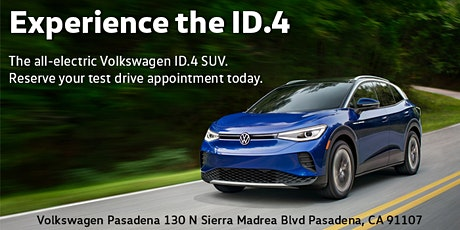 ID.4 Experience and Test Drive tickets
