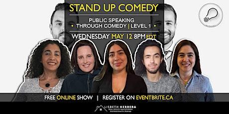 Public Speaking Through Comedy Workshop   Online Grad Show tickets