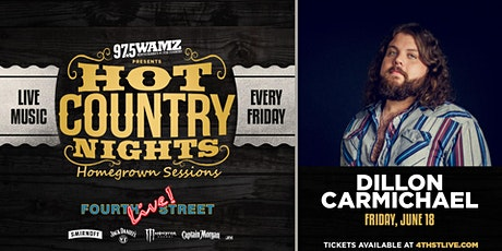 Hot Country Nights: Dillon Carmichael presented by 97.5 WAMZ tickets