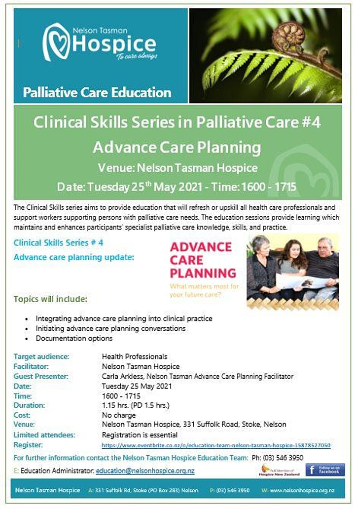 Advance Care Planning (Clinical Skills Series 1.5hrs.) image