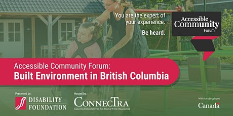 Disability Foundation's Accessible Community Forum: Built Environment tickets