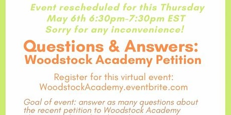 Questions and Answers: Woodstock Academy Petition tickets