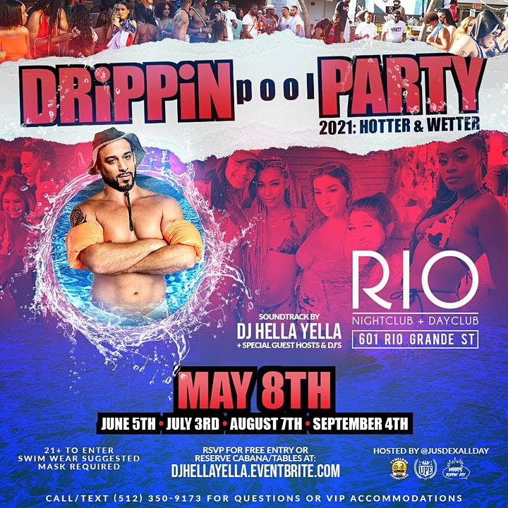 Drippin' Rooftop Pool Party 2k21 image