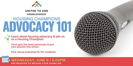 Housing Champions Advocacy 101 Online Workshop tickets