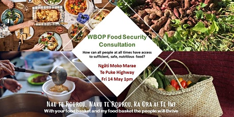 Food Security Hui - Te Puke 14 May tickets