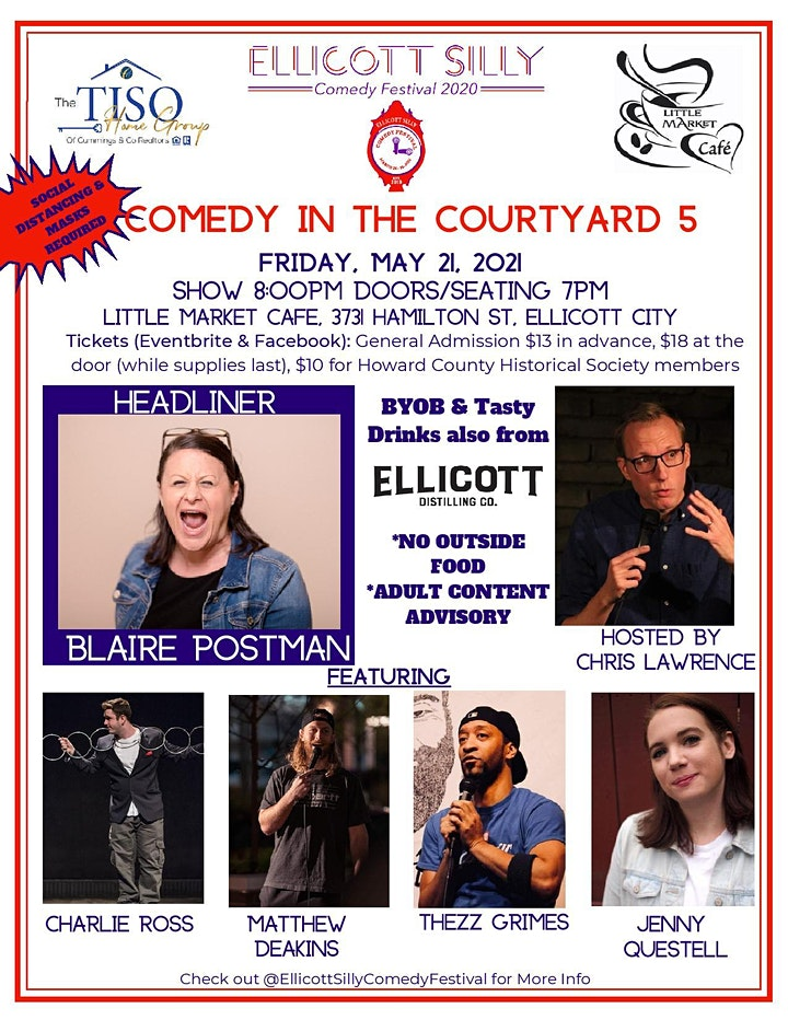 Ellicott Silly Comedy Festival presents Comedy in the Courtyard 5 May 21 image