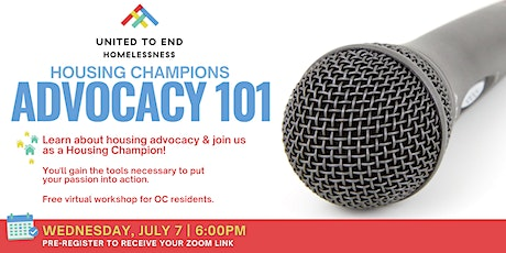 Housing Champions Advocacy 101 Online Workshop (Orange County) tickets