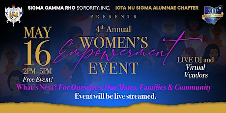 SGRho/INS  4th Annual Women's Empowerment Event tickets