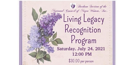 Living Legacy Recognition Program tickets