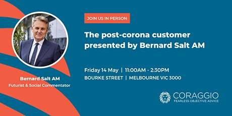 The post-corona customer presented by Bernard Salt AM tickets