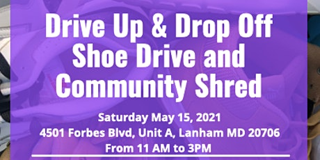Drive Up and Drop Off Shoe Drive and Community Shred tickets