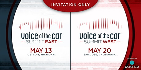 The Voice of the Car Summit West (May 20, San Jose CA) tickets