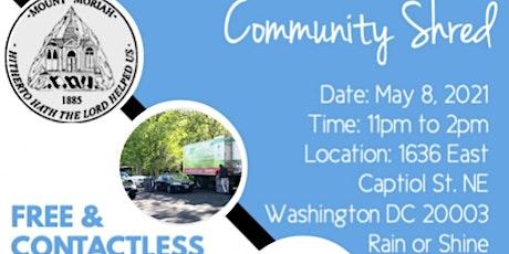 Mount Moriah Baptist Church Community Shred tickets