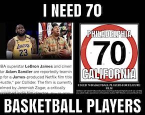 LEBRON JAMES ADAM SANDLER MOVIE 70 BASKETBALL PLAYERS NEEDED tickets