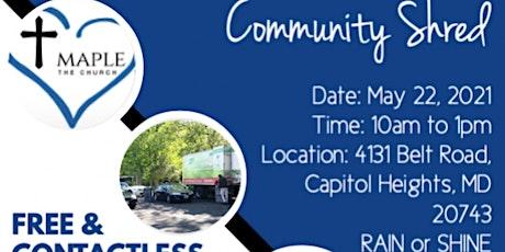 Maple Springs Baptist Church Community Shred tickets
