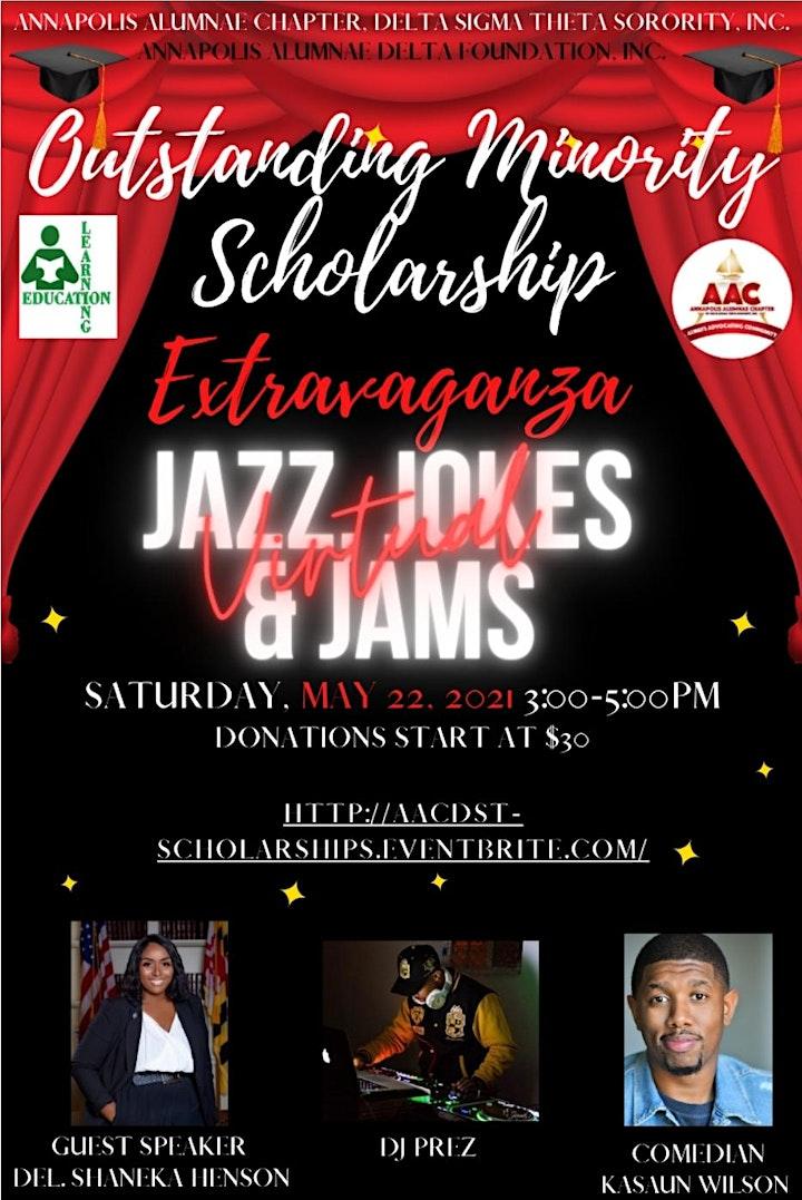 Outstanding Minority Scholarship:  Jazz, Jokes, & Jams image