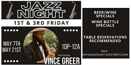Jazz Night w/ Vince Greer tickets