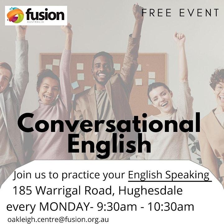 Conversational English Classes - FREE image