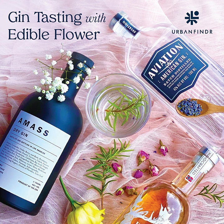 2 hours Gin Tasting with Edible Flower image