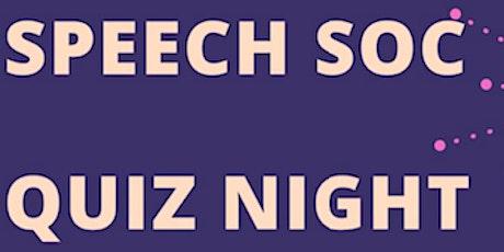 SpeechSoc Quiz Night tickets