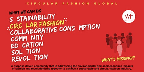 Join the Circular Fashion Global Community today! tickets