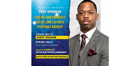 """""""The Ultimate Guide to Create A Long Lasting & Profitable Brand"""" tickets"""