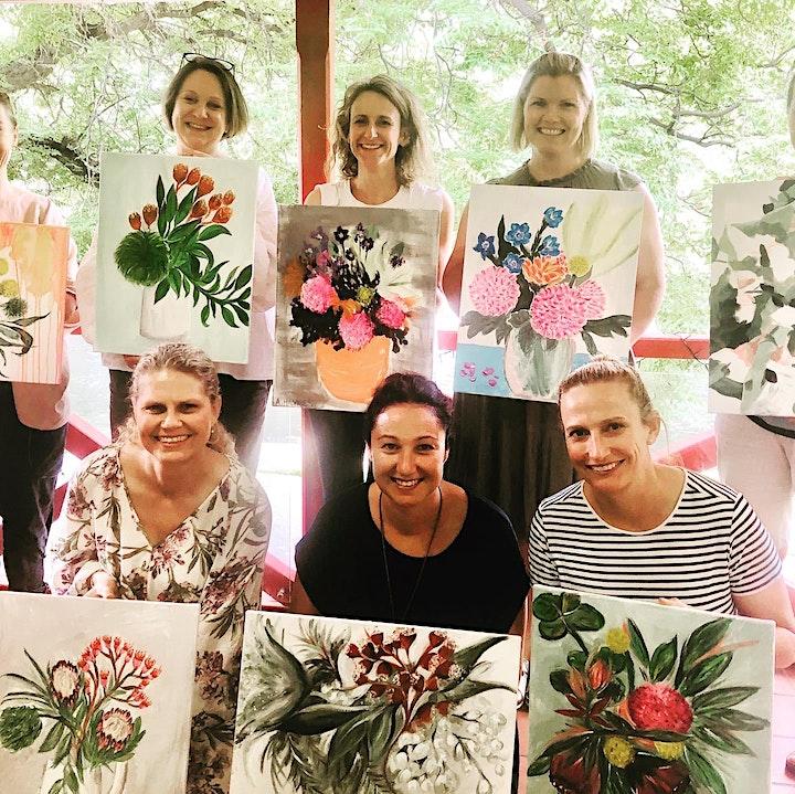 Mother's Day Voucher Floral Paint & Sip image