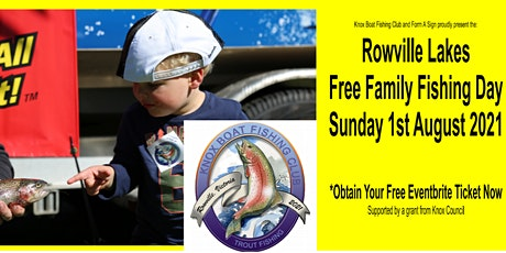 2021 Rowville Lakes Free Family Fishing Day  Sunday 1st August 2021 tickets