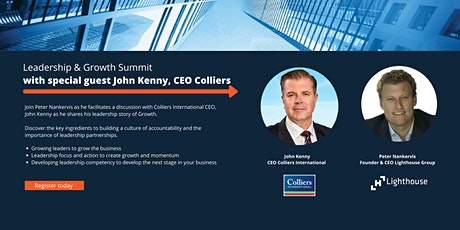 Leadership and Growth Summit with John Kenny, CEO of Colliers International tickets