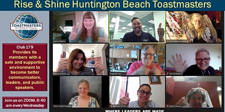 IMPROVE PUBLIC SPEAKING HB Rise n Shine Toastmasters Meeting tickets