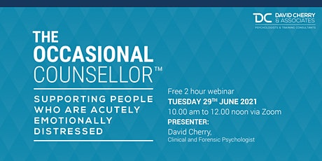 The Occasional Counsellor (TM) webinar Tues 29.6.21. tickets